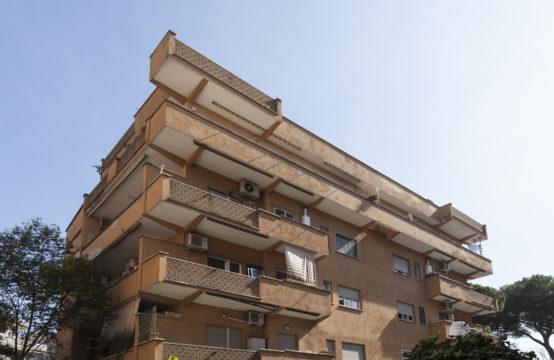 Ampio trilocale con due balconi vista parco, buono stato